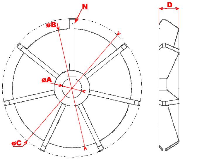 Вентилятор АИР-112 (2) 33,5мм/125мм/180мм  ХРК